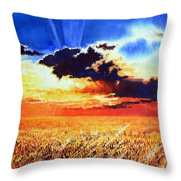 Prairie Gold Throw Pillow by Hanne Lore Koehler
