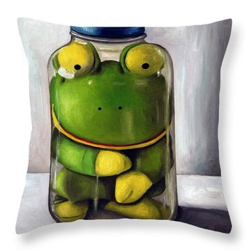 Preserving Childhood Throw Pillow by Leah Saulnier The Painting Maniac