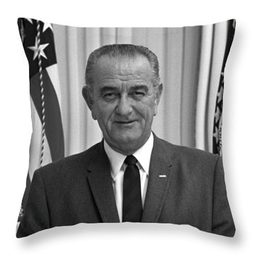 President Lyndon Johnson Throw Pillow by War Is Hell Store