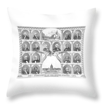 Presidents Of The United States 1776-1876 Throw Pillow by War Is Hell Store