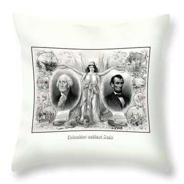 Presidents Washington And Lincoln Throw Pillow by War Is Hell Store