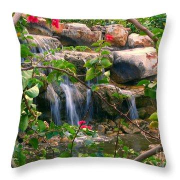 Pretty Garden View Throw Pillow by Yali Shi