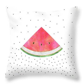 Pretty Watermelon Throw Pillow by Elisabeth Fredriksson