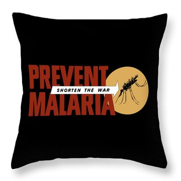 Prevent Malaria - Shorten The War  Throw Pillow by War Is Hell Store