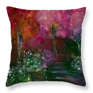 Primrose Painting Throw Pillow by Don  Wright