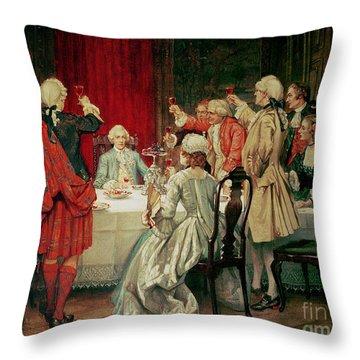 Prince Charles Edward Stuart In Edinburgh Throw Pillow by William Brassey Hole