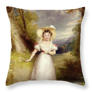 Princess Victoria Aged Nine Throw Pillow by Stephen Catterson the Elder Smith