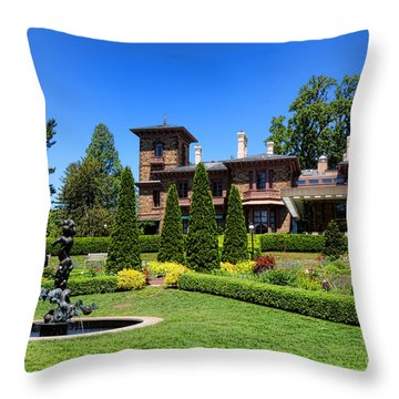 Princeton University Prospect Gardens And House Throw Pillow by Olivier Le Queinec