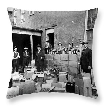 Prohibition, 1922 Throw Pillow by Granger