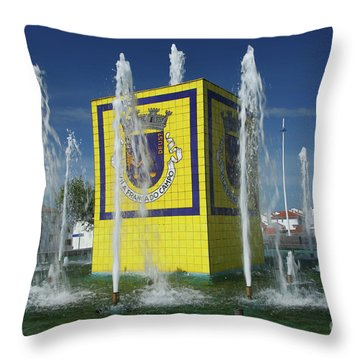 Public Fountain Throw Pillow by Gaspar Avila
