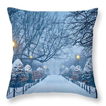 Public Garden Walk Throw Pillow by Susan Cole Kelly