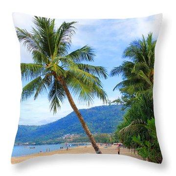 Phuket Patong Beach Throw Pillow by Mark Ashkenazi