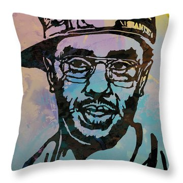 Puff Daddy Pop Stylised Art Poster Throw Pillow by Kim Wang