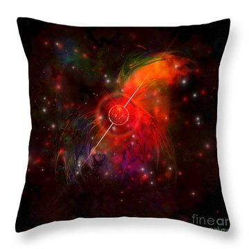 Pulsar Throw Pillow by Corey Ford