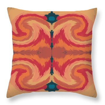 Pumpkin Spice- Art By Linda Woods Throw Pillow by Linda Woods