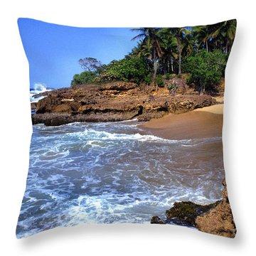 Punta Morillos Near Arecibo Throw Pillow by Thomas R Fletcher