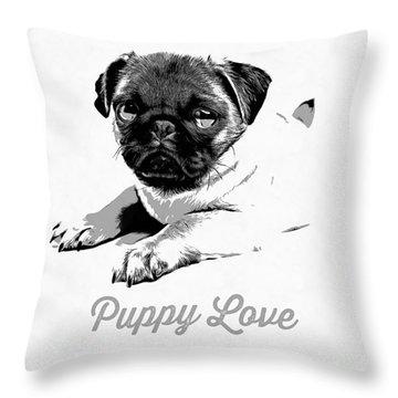 Puppy Love Throw Pillow by Edward Fielding