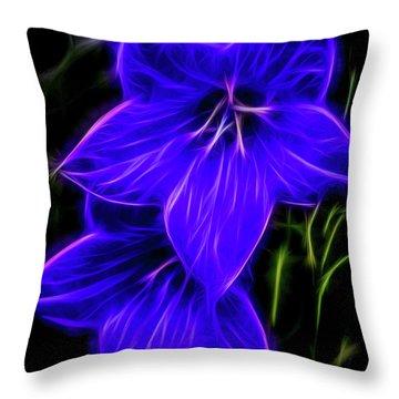 Purple Passion Throw Pillow by Joann Copeland-Paul