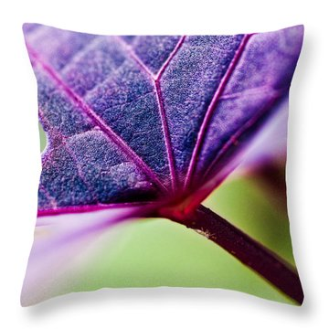 Purple Veins Throw Pillow by Christopher Holmes