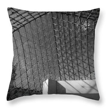 Pyramide Du Louvre Throw Pillow by Sebastian Musial