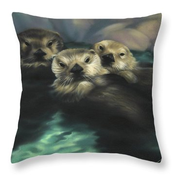 Quiet Cove Throw Pillow by Lucy West