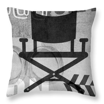 Quiet On Set- Art By Linda Woods Throw Pillow by Linda Woods