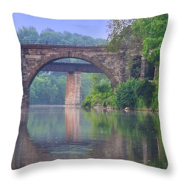 Quiet River Throw Pillow by Bill Cannon