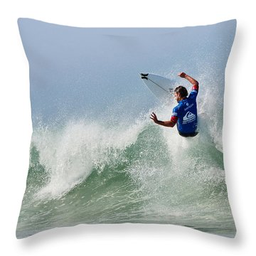 Throw Pillow featuring the photograph Quiksilver Pro France I by Thierry Bouriat