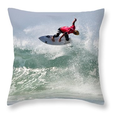 Throw Pillow featuring the photograph Quiksilver Pro France Iv by Thierry Bouriat