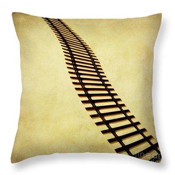 Railway Throw Pillow by Bernard Jaubert