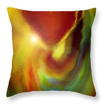 Rainbow Of Love Throw Pillow by Linda Sannuti