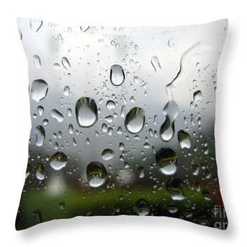 Rainy Day Throw Pillow by Yali Shi
