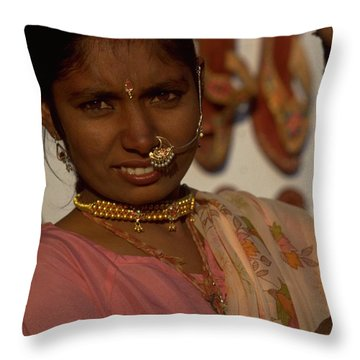 Throw Pillow featuring the photograph Rajasthan by Travel Pics