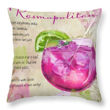 Rasmopolitan Mixed Cocktail Recipe Sign Throw Pillow by Mindy Sommers
