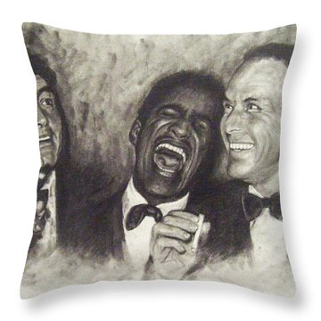 Rat Pack Throw Pillow by Cynthia Campbell