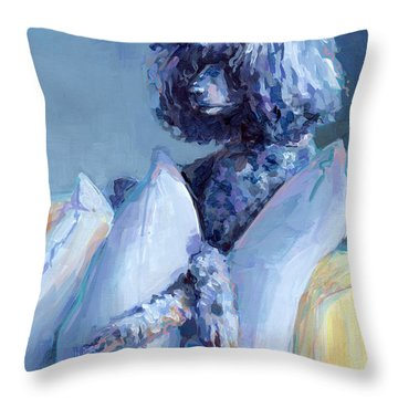 Ready For Her Closeup Throw Pillow by Kimberly Santini
