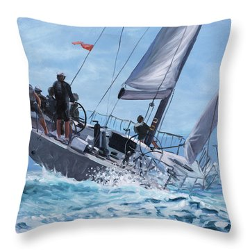 Reagatta Throw Pillow by Marco Busoni