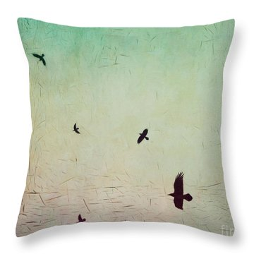 Real Friends Throw Pillow by Priska Wettstein