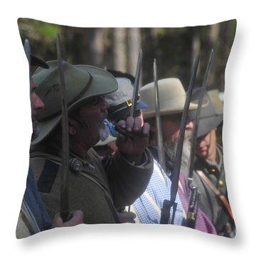 Rebel Bayonets Throw Pillow by David Lee Thompson