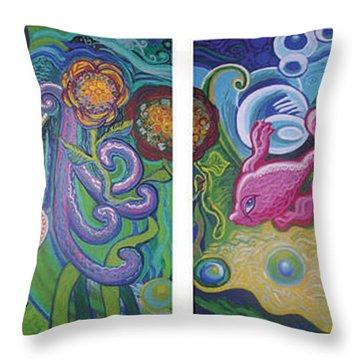 Reciprocal Liason Of The Sea Throw Pillow by Genevieve Esson