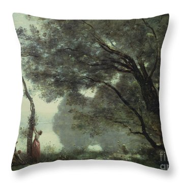 Recollections Of Mortefontaine Throw Pillow by Jean Baptiste Corot
