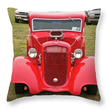 Red 1990 Throw Pillow by Guy Whiteley