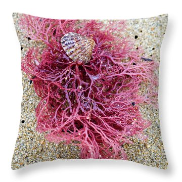 Throw Pillow featuring the photograph Red Algae by Frank Tschakert