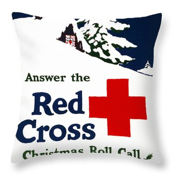 Red Cross Poster, C1915 Throw Pillow by Granger