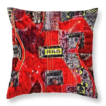 Red Devil Throw Pillow by Bill Cannon