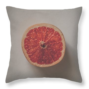 Red Inside Throw Pillow by Kate Morton