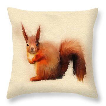 Red Throw Pillow by John Edwards
