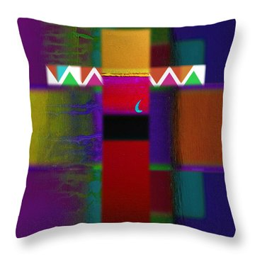 Red Nile Throw Pillow by Charles Stuart