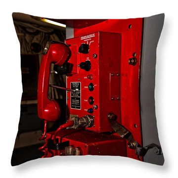 Red Phone Throw Pillow by Christopher Holmes