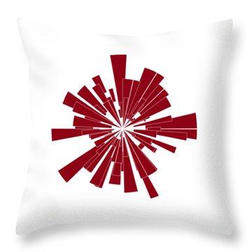 Red Shape Throw Pillow by Frank Tschakert
